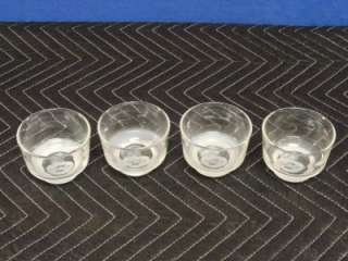 UNITED AIRLINES Drink Glasses Vintage 1960s Rocks 1st Class Set of 4