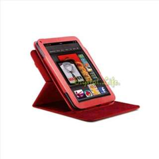 Leather Case Cover+Anti G Protector+Car Charger for Kindle Fire