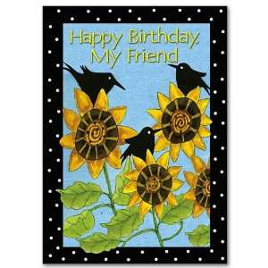 and Birds Religious Happy Birthday Card with Envelope