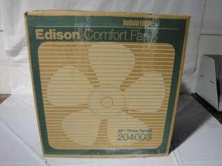 1970s McGraw Edison 20 3 Speed Comfort Box Fan