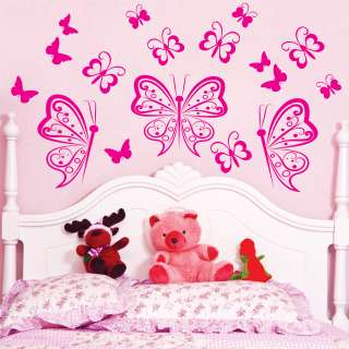 17 BUTTERFLIES Vinyl Wall Decals Sticker Art Decor Mural~~