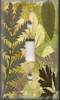 Light Switch Plate Cover   Wall Decor   Rustic Nature   Green Dried