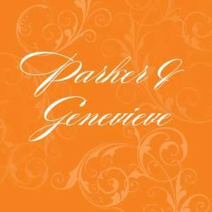 Filigree Design Favor / Place Cards   Burnt Orange