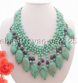 Stunning Turquoise&Amethyst Necklace