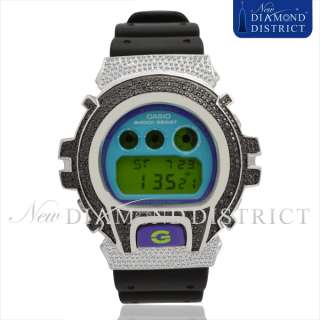 CASIO G SHOCK ICED OUT 4.00CT BLACK & WHITE DIAMOND WATCH DW6900