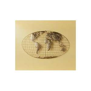 SEI Iron World Map Wall Art GA1152R