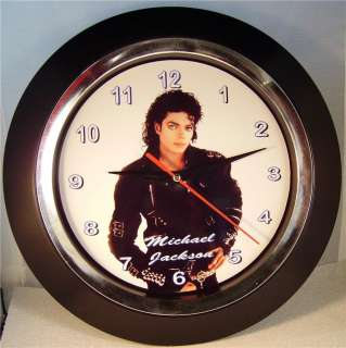 MICHAEL JACKSON 10 WALL CLOCK   NEW IN BOX