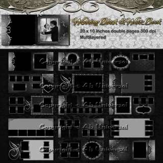 Backdrops Backgrounds Photoshop Wedding Album Templates ****