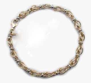 Status Anklet ANKLE Bracelet 14K Yellow White Gold