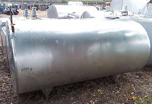 800 gallon DELAVAL EC800 Stainless Steel Bulk Milk Tank
