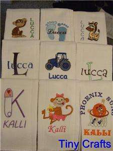 Burp Cloths Personalized Custom Gift Baby/Shower
