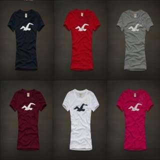 Abercrombie womens MALIBU Pretty Bow with Bird Logo T Shirt NWT