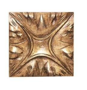Hand Carved Square Wood Rosette in Alder