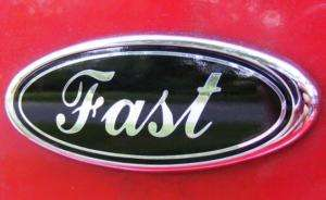 FAST oval ford emblem OVERLAY Mustang 94 04 DECAL black
