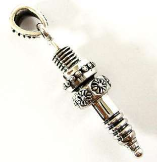 SPARK PLUG MOTORCYCLE SOLID STERLING 925 SILVER PENDANT