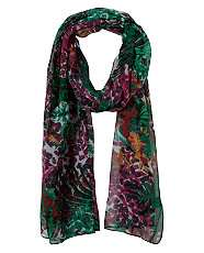 null (Multi Col) Tropical Print Scarf  245112999  New Look