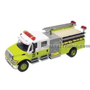 : Boley HO Scale International 7000 2 Axle Crew Cab City Fire Engine