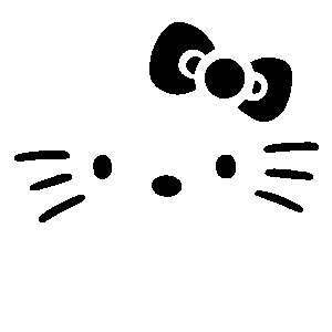 Hello Kitty Night Face iPhone Cell Phone Sticker Decal