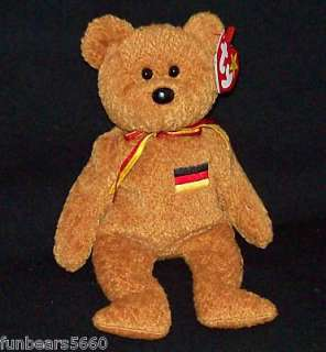 TY Beanie Baby GERMANIA Germany Excl Bear 8 MWMT