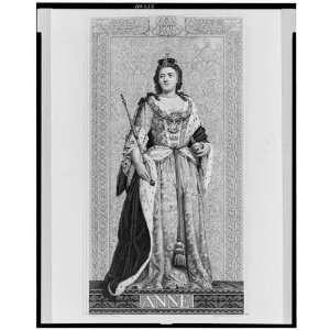 Anne Queen Great Britain,H. Bourne, Rysbrack,1800s