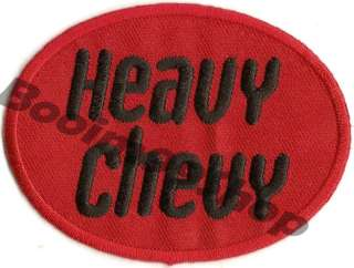 HEAVY CHEVY LOGO EMBROIDERED IRON ON Patch T Shirt Sew