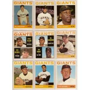 San Francisco Giants 1964 Topps Baseball Team Lot (21 Cards) (Willie