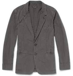 Blazers  Single breasted  Washed Slim Fit Cotton Blazer