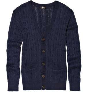 Clothing  Knitwear  Cardigans  Cable Knit Cardigan