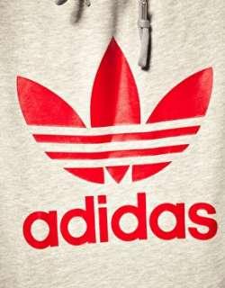 Adidas Originals   Felpa con cappuccio e trifoglio a contrasto su
