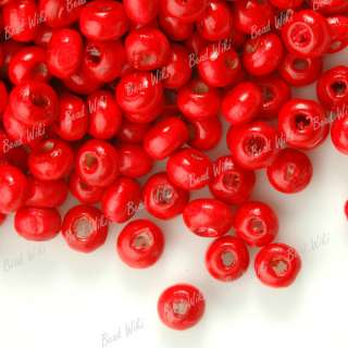 1380 Round Wooden Wood Bead Wholesale Lots Choose Color 3x4mm Free