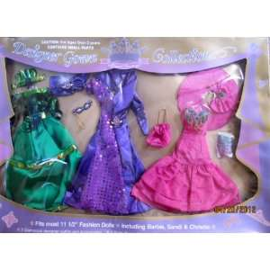 DESIGNER GOWN COLLECTION For BARBIE, Sandi, Christie & 11.5 Fashion