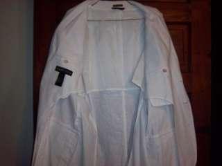 NEW Andrew Fezza 80s Don Johnson Miami Vice White Blazer Jacket XXL