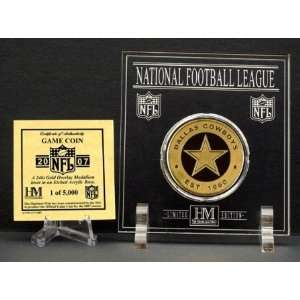 Official 2007 NFL Team Game Coin   Dallas Cowboys Sports