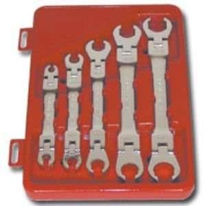 5 Piece SAE Flex Head Line Wrench Set