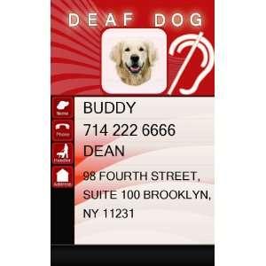 DEAF Dog ID Badge   1 Dogs Custom ID Badge   Design#3