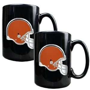Cleveland Browns 2 Piece Matching NFL Ceramic Coffee Mug