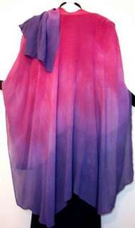 Silk Chiffon Cape Ruana Caftan Hand Dyed Maya Matazaro