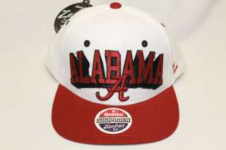 CRIMSON TIDE NCAA SNAPBACK HAT CAP TEAM COLOR BLOCKBUSTER WHITE