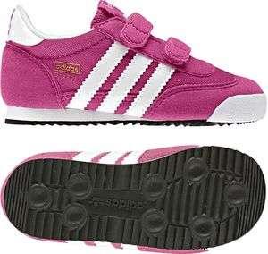 Adidas Dragon Kinder Mädchen Schuhe Bloom Pink Weiss ORIGINALS NEU