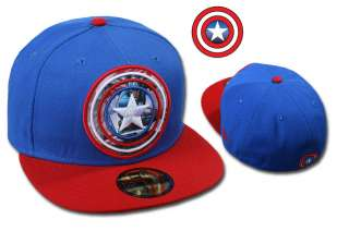 NEW ERA CAP MARVEL COMIC CAPTAIN AMERICA SUBACTION OFFICIAL TEAM COLOR