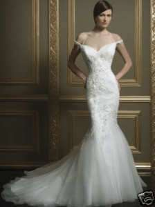 White Mermaid Sweetheart Neckline Wedding Dress Custom