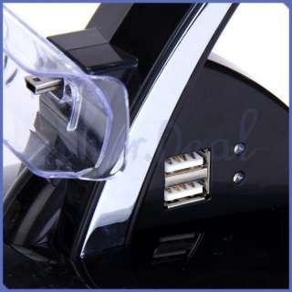 Zwei Dual Ladestation USB Dock Ladegerät für PS3 PlayStation 3