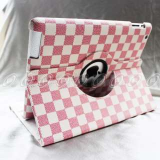 iPad 2 360° Stylish Rotating Magnetic Leather Case Smart Cover With