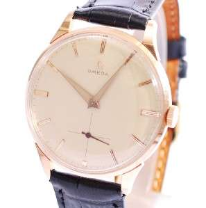 MINT OMEGA 18K SOLID ROSE GOLD MANUAL WIND CAL 267 VINTAGE 1958 MENS