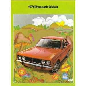 1971 PLYMOUTH CRICKET Sales Brochure Literature Book