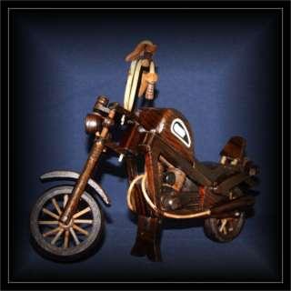 Harley Motorrad Chopper Holz dunkel 40X30cm (DEKO 003)