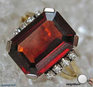 Topas Gold Ring Ringe 18 Kt 750 Gold Topase Diamanten Damen Antikring