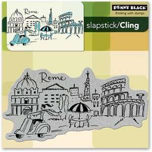 Penny Black Cling Rubber Stamp 5X5 Rome: Arts, Crafts