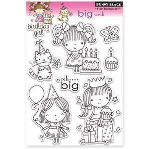 Penny Black Clear Stamps 5X7.5 Sheet Big Wish Arts