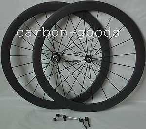 700C Carbon Fiber 3k Matte Finish Road Bike 50mm Clincher Wheels